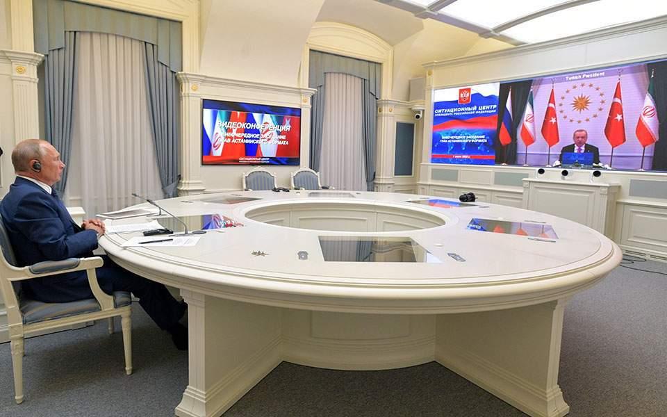 Συνεννόηση Πούτιν, Ερντογάν και Ροχανί για ειρήνη στη Συρία