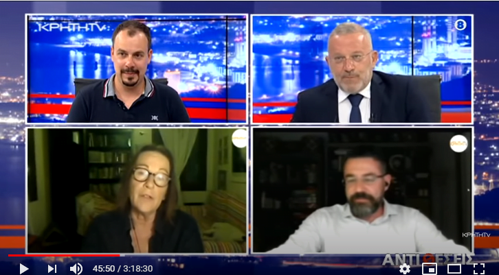 """""""Αντιθέσεις"""", η τελευταία εκπομπή της τηλεοπτικής περιόδου του Γιώργου Σαχίνη: Το σκηνικό της έντασης με την Τουρκία"""