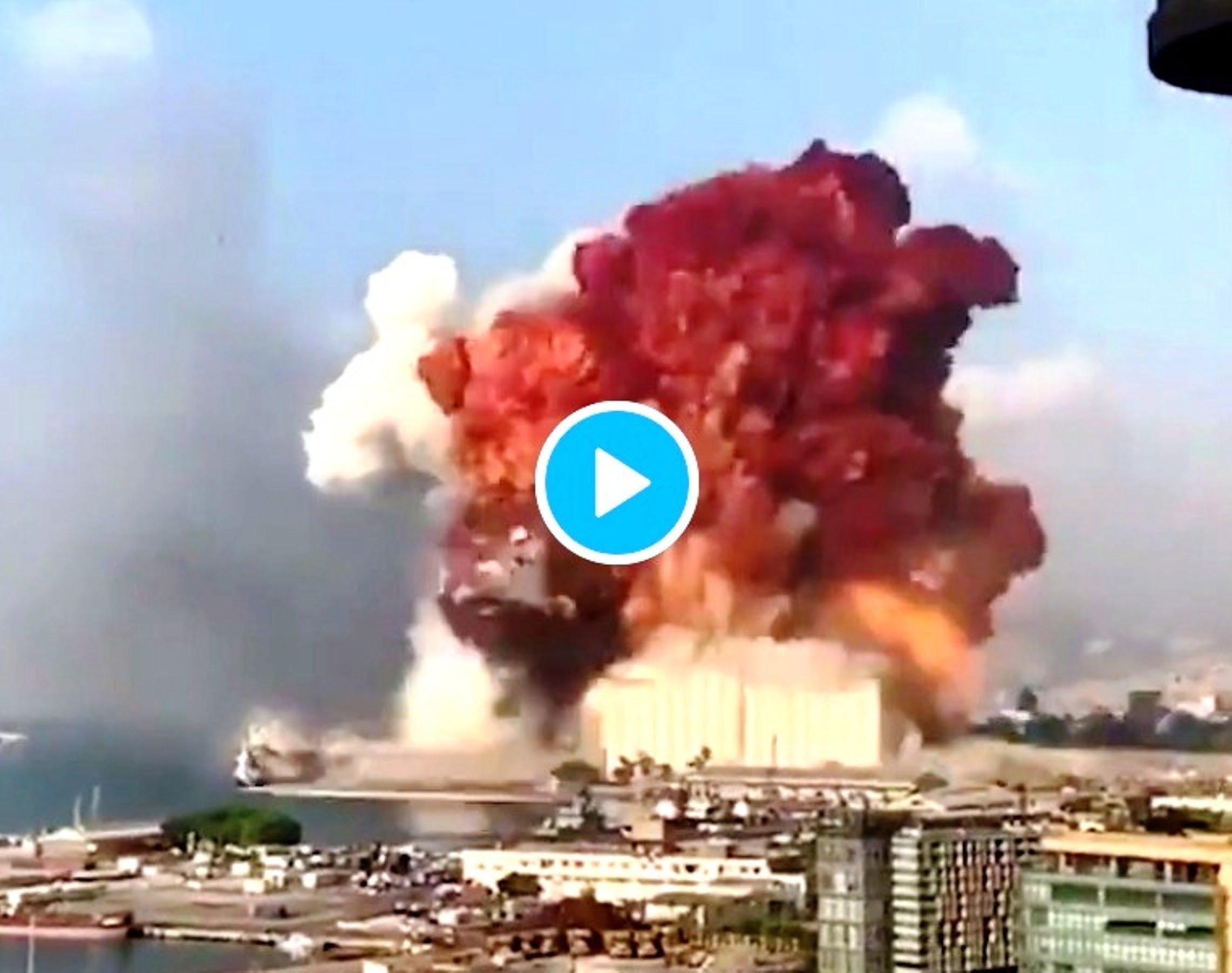 Γιγαντιαία έκρηξη στη Βηρυτό, άλλα βίντεο και φωτογραφίες