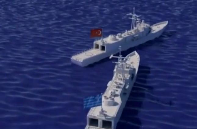 Πρόκληση Oruc Reis: Πώς έγινε η επακούμβηση της τουρκικής φρεγάτας με τη «ΛΗΜΝΟ» (Βίντεο)