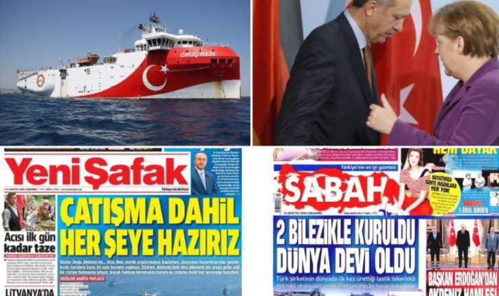 """Τουρκικά ΜΜΕ: Ο Ερντογάν θα ζητήσει σύγκληση διάσκεψης από τη Μέρκελ για τη """"μοιρασιά"""" της Αν. Μεσογείου"""