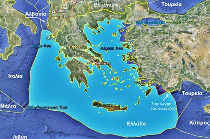 """""""Θέατρο πολέμου"""" στο Αιγαίο πριν την παράδοση ελληνικής ΑΟΖ στην Τουρκία  (Ιούλιος 1974 – Ιούλιος 2020)"""