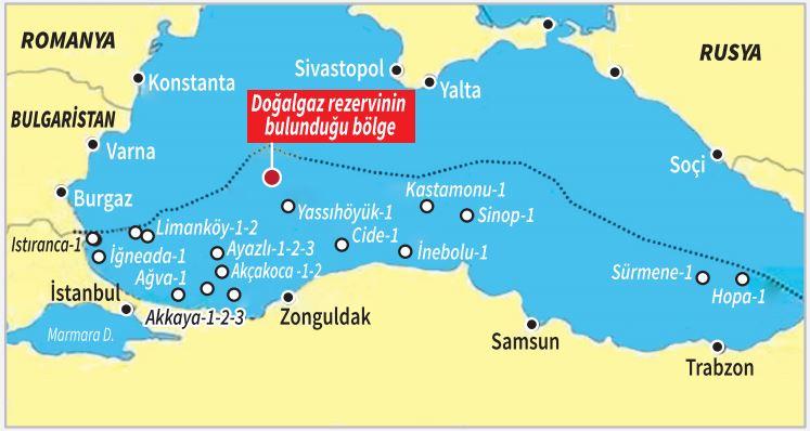 Εδώ βρέθηκε το κοίτασμα φυσικού αερίου της Τουρκίας (χάρτης)