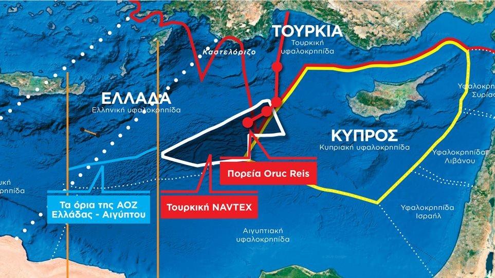 Άγρια νύχτα με το Oruc Reis – Πλέει μέσα στην ελληνική υφαλοκρηπίδα