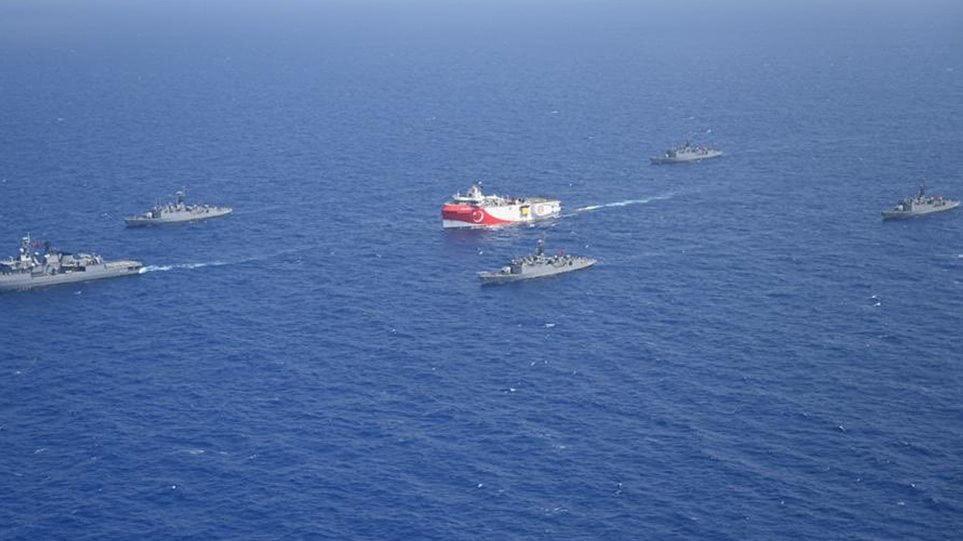 Στα 52 ναυτικά μίλια εντός της ελληνικής υφαλοκρηπίδας το «Ορούτς Ρέις»