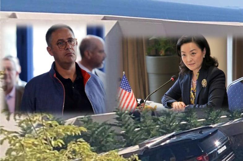Η Πρέσβης των ΗΠΑ στην Αλβανία και τα πάρε δώσε με τον μεγαλύτερο καταπατητή της Χιμάρας