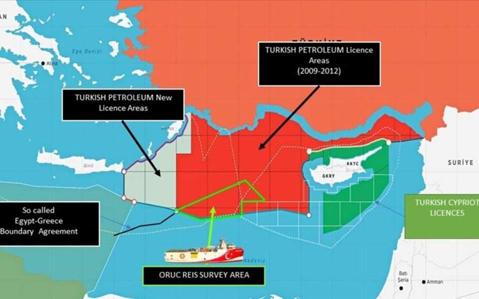 Νέα βαρύτατη πρόκληση: Η Τουρκία εξέδωσε νέο χάρτη για έρευνες σε οριοθετημένη περιοχή, δίπλα σε Κάρπαθο και Καστελόριζο