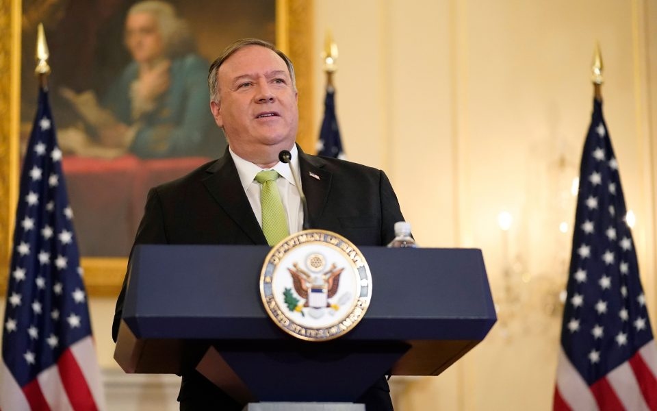 Επικοινωνία Πομπέο – Στόλτενμπεργκ: Χαιρετίζει την επανέναρξη διερευνητικών επαφών ο Αμερικανός ΥΠΕΞ