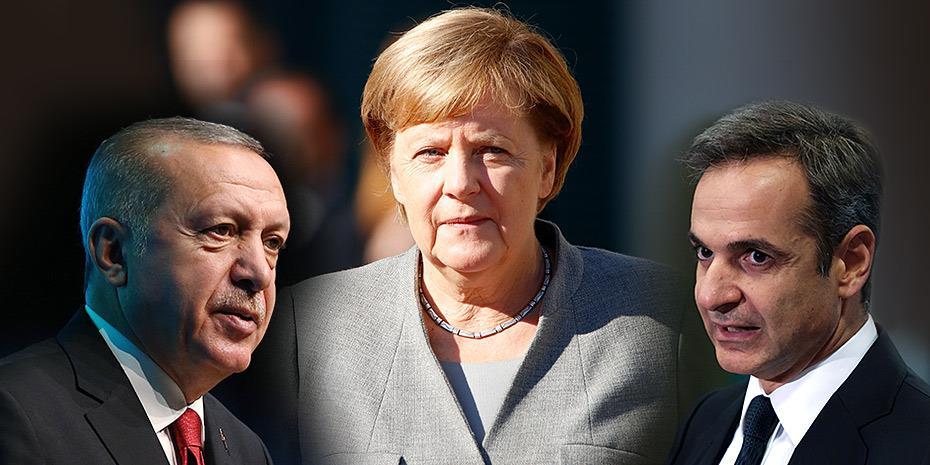 Ξεκινά νέα διαμεσολάβηση Μέρκελ σε Ελλάδα-Τουρκία. Επίκειται τηλεφωνική επικοινωνία Μητσοτάκη-Ερντογάν
