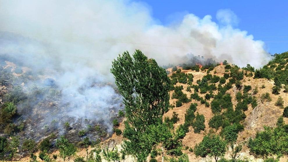 Ο τουρκικός στρατός καίει δάση πριν τη διεξαγωγή στρατιωτικών επιχειρήσεων εναντίον των Κούρδων ανταρτών