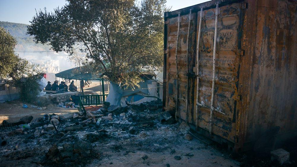 Μόρια: ΕΛ.ΑΣ., ΕΥΠ και Αντιτρομοκρατική ψάχνουν ποιοι έκαψαν το ΚΥΤ