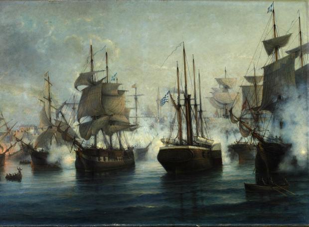 """Ναυμαχία της Ιτέας: Το ατμόπλοιο """"Καρτερία"""" συντρίβει τους Τουρκοαιγυπτίους"""