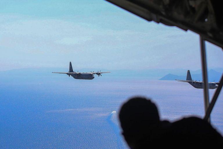 Stolen Cerberus: Εντυπωσιακές πτήσεις C-130 πάνω από την Αθήνα