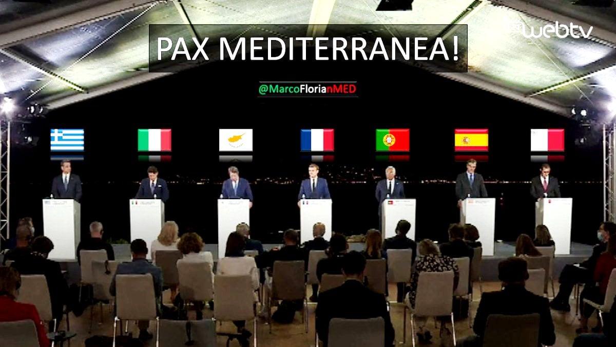 «Υπάρχει μια τρομοκρατική απειλή» είπε ο Μακρόν και έδειξε την Τουρκία – Όραμα η «Pax Mediterranea»