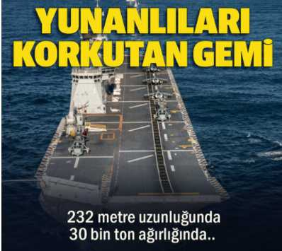 Προκαλεί η Yeni Safak: «Αυτό είναι το πλοίο που φοβούνται οι Έλληνες» – Εκτός πραγματικότητας οι Τούρκοι (ΒΙΝΤΕΟ)