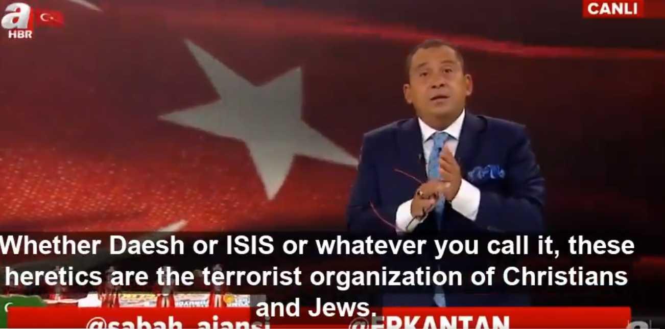 Στεγνή προπαγάνδα σε ερντογανικό κανάλι: «Ο ISIS είναι τρομοκρατική οργάνωση Χριστιανών και Εβραίων» (ΒΙΝΤΕΟ)