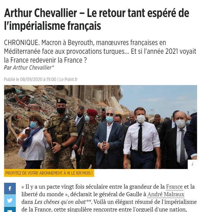Η πολυπόθητη επιστροφή του γαλλικού ιμπεριαλισμού. Kι αν το 2021 η Γαλλία ξαναγινόταν Γαλλία ;