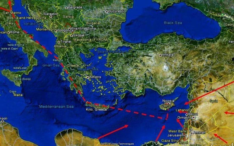 East Med Gas Forum: Ελλάς, Κύπρος, Αίγυπτος, Ισραήλ, Ιορδανία, Παλαιστίνιοι