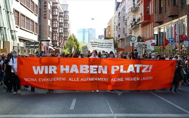 Γερμανία: Διαδηλώσεις για να δεχθεί η Ε.Ε. από τη Λέσβο αιτούντες άσυλο