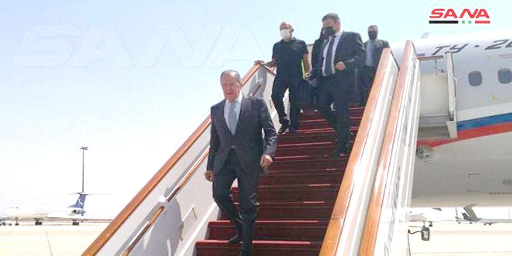 Ο Λαβρόφ έφτασε στη Δαμασκό για επίσκεψη στη Συρία