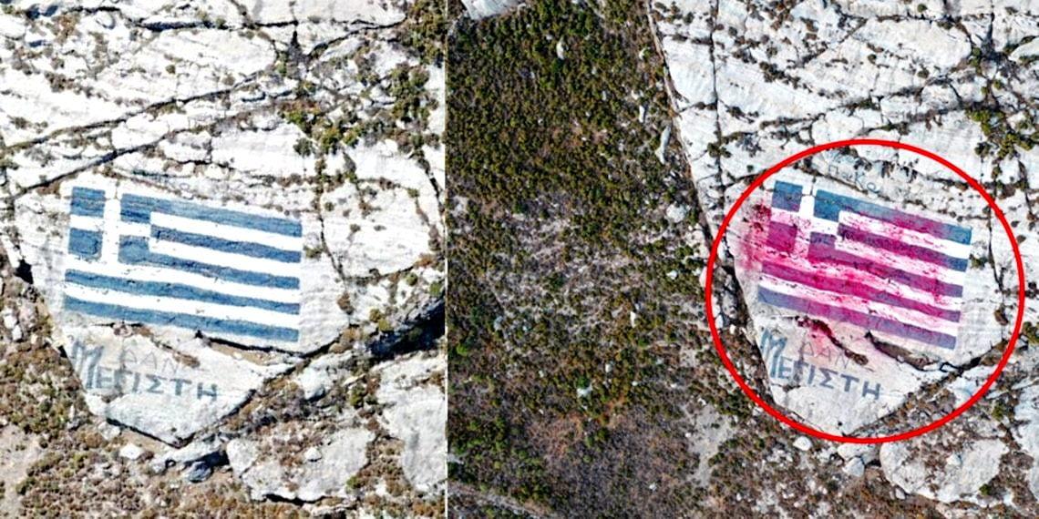 Πρωτοφανής τουρκική πρόκληση στο Καστελλόριζο: Πέταξαν κόκκινη μπογιά στην ελληνική σημαία και… ήχησαν σειρήνες πολέμου