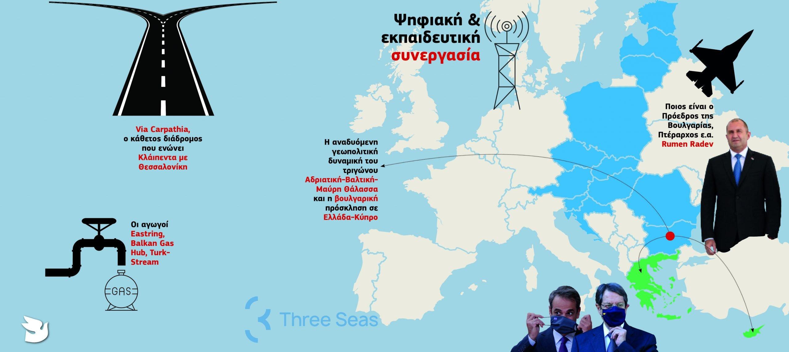 «Πρωτοβουλία των Τριών Θαλασσών» – Βουλγαρική πρόταση για συμπερίληψη Κύπρου και Ελλάδας