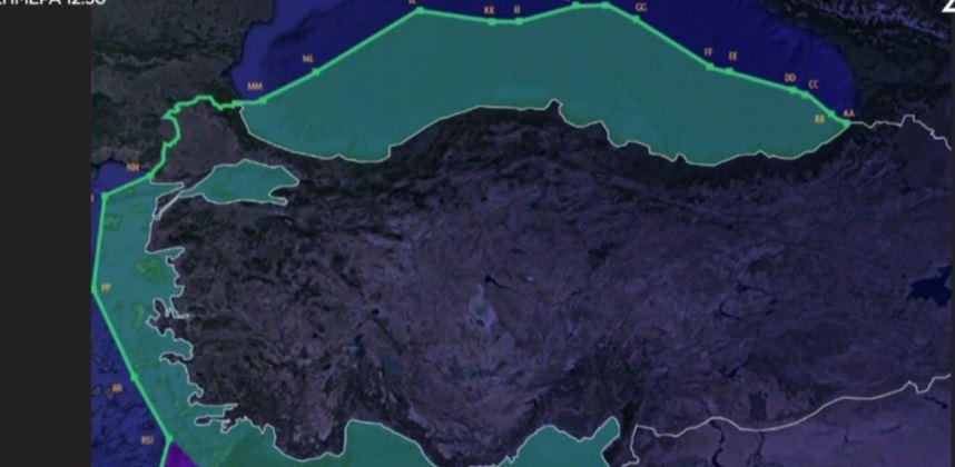 Νέος χάρτης – πρόκληση από την Αγκυρα – Διχοτομούν το Αιγαίο