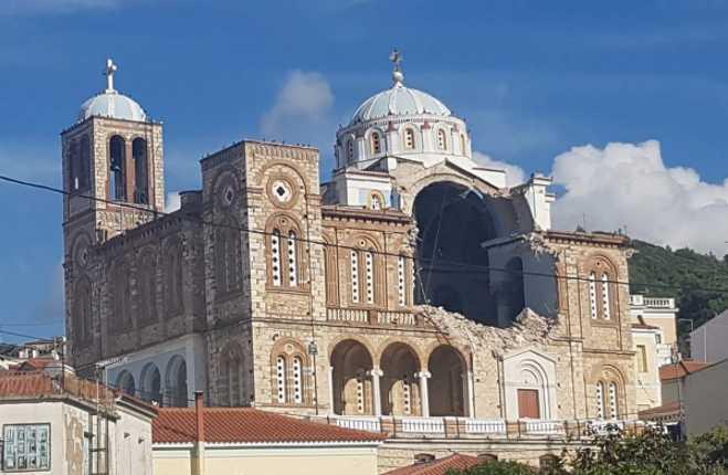 Σεισμός – Σάμος: Μεγάλες ζημιές σε εκκλησία στο Καρλόβασι