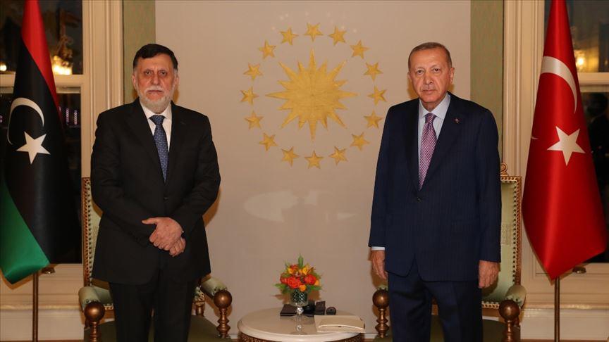 Νέα συνάντηση με Σαράζ στην Κωνσταντινούπολη – Ενίσχυση δεσμών με την Λιβύη ζήτησε ο Ερντογάν