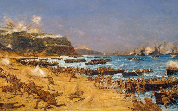 Η εκστρατεία της Καλλίπολης. Η Ελλάδα παρέμεινε ουδέτερη, οι σύμμαχοι θρήνησαν χιλιάδες θύματα από τα τουρκικά πολυβόλα