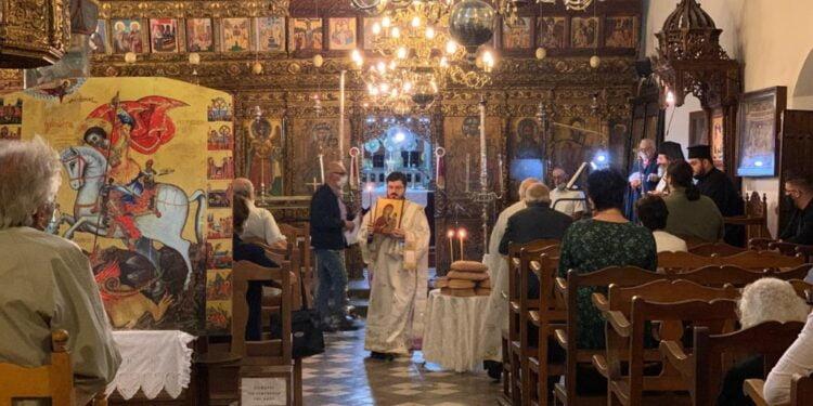Οι κατεχόμενες ενορίες της Αρχιεπισκοπής Κύπρου εόρτασαν τον Άγιο Γεώργιο