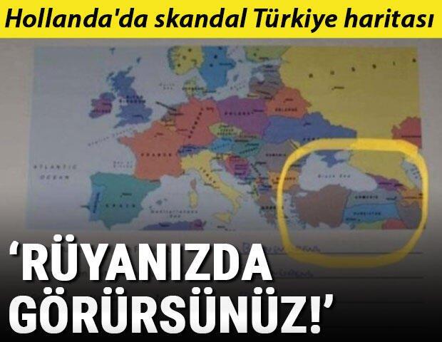 Θύελλα στα τουρκικά ΜΜΕ: Χάρτης σε Ολλανδική Σχολή με την Τουρκία κομμένη στα τρία και ανύπαρκτη!