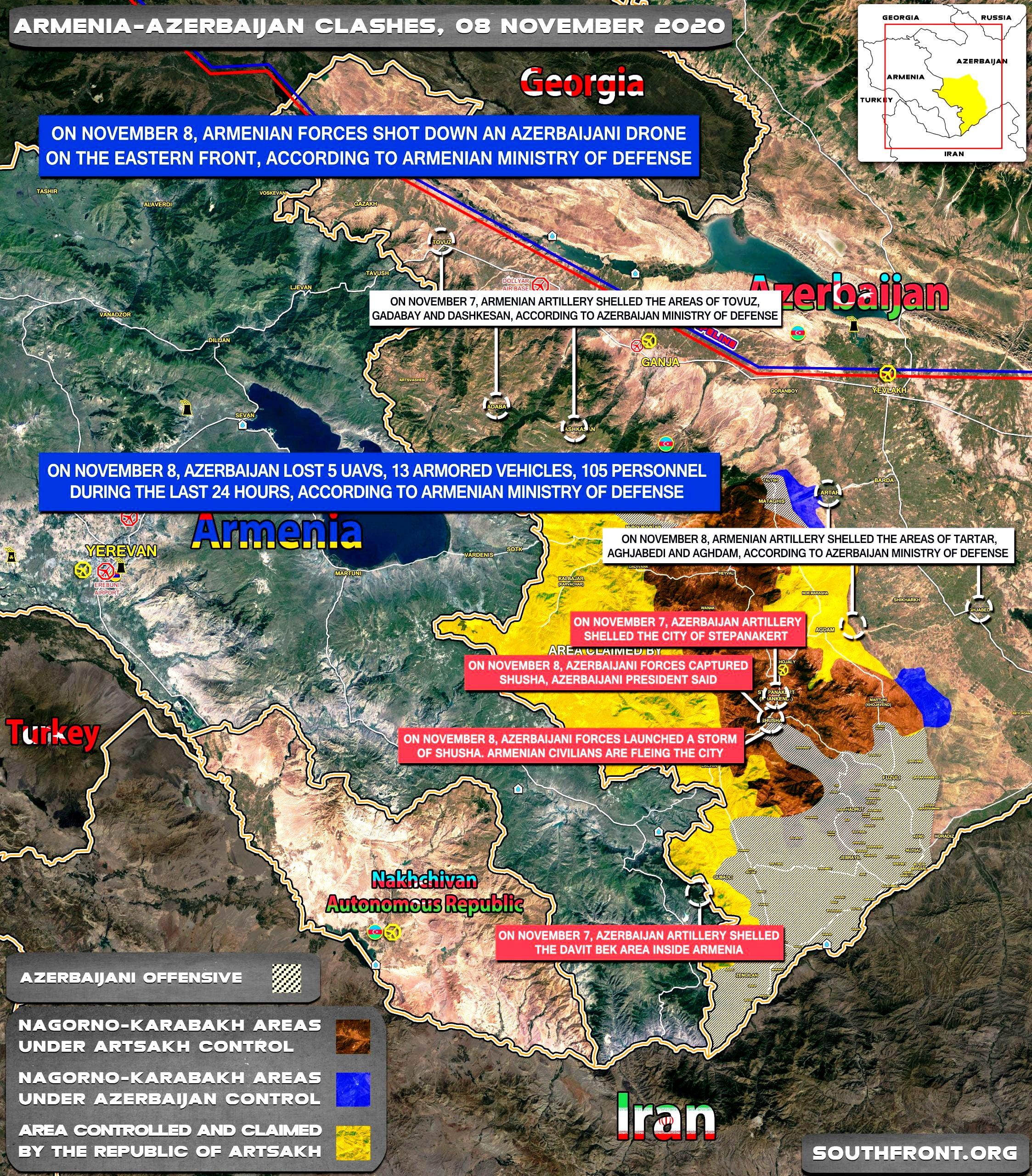 Στρατιωτική Διάταξη στο Αρτσάχ την 8η Νοεμβρίου 2020