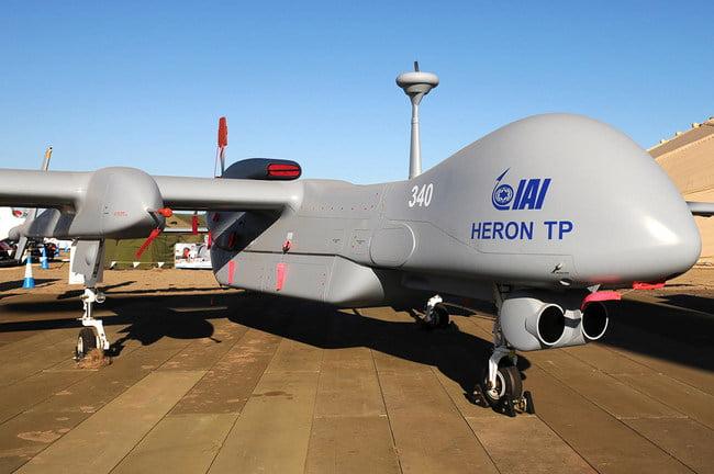 Έφτασαν τα ισραηλινά UAV τύπου Heron στη Σκύρο