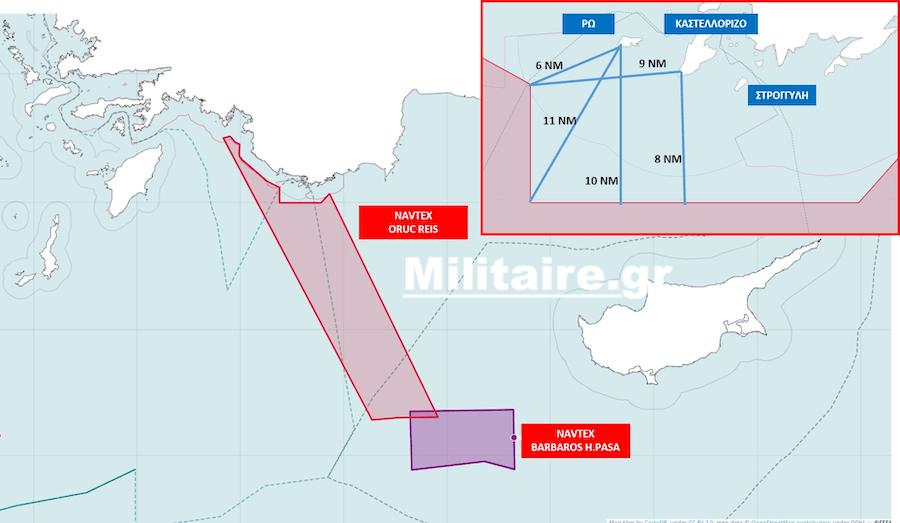 Τετελεσμένο στη Ρω από την Τουρκία! Στα 6 ναυτικά μίλια το Oruc Reis με βάση τη νέα NAVTEX