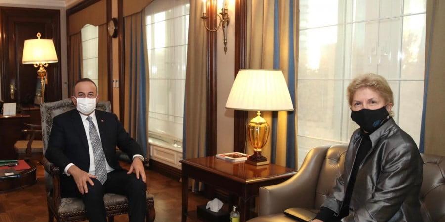 """Παράλογες απαιτήσεις Τσαβούσογλου σε απεσταλμένη του ΟΗΕ για το Κυπριακό: """"Θέλουμε ισότιμη κυριαρχία στην Κύπρο"""""""