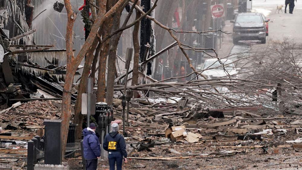 Μυστήριο συνεχίζει να καλύπτει την έκρηξη στο Νάσβιλ (ΒΙΝΤΕΟ)