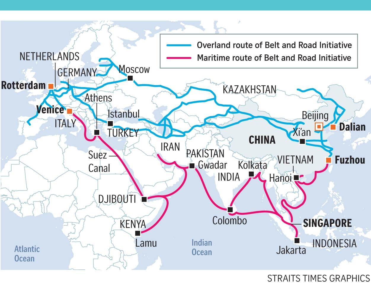 Τα τραίνα του Belt and Road απειλούν τον έλεγχο των Θαλασσών από τις ΗΠΑ