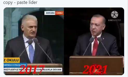 Εξευτελισμός Ερντογάν – Εκφώνησε ομιλία που είχε κάνει ο Μπιναλί Γιλντιρίμ, από το 2017