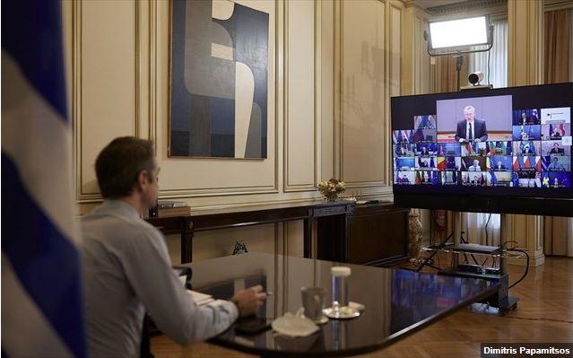 Ασφάλεια και άμυνα απασχόλησαν τους ηγέτες της Ε.Ε. σε τηλεδιάσκεψη
