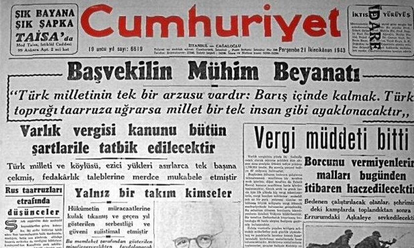 Η εξόντωση του Ελληνισμού της Πόλης, τα Χριστούγεννα 1942, από το τουρκικό κράτος