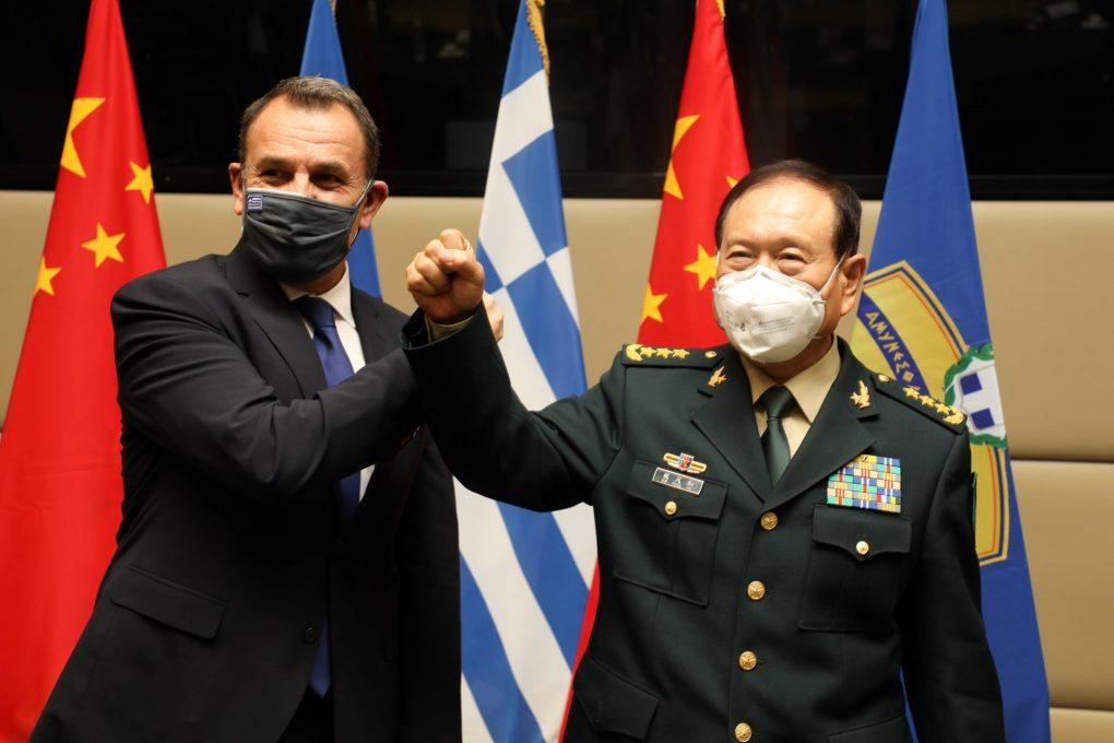 Συνάντηση ΥΕΘΑ Ν. Παναγιωτόπουλου με τον ΥΠΑΜ Λ.Δ. Κίνας Γουέι Φένγκε