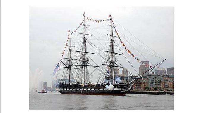 Απάνω στο ιστορικό USS Constitution γιορτάστηκε πανηγυρικά η 25h Μαρτίου 1821 στη Βοστώνη