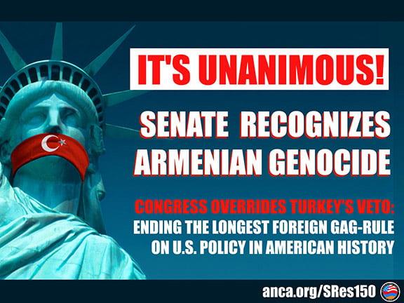 Η αναγνώριση της γενοκτονίας των Αρμενίων από τις ΗΠΑ και η Τουρκία