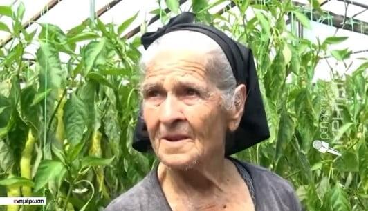 Μία ακούραστη εργάτρια γης, ετών 88 στην Ιεράπετρα (ΒΙΝΤΕΟ)