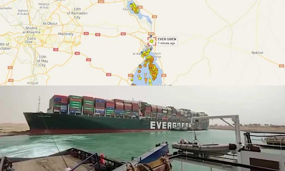 Διώρυγα του Σουέζ: «Παγωμένη» η παγκόσμια ναυσιπλοΐα – Άκαρπες οι προσπάθειες αποκόλλησης του γιγαντιαίου πλοίου Ever Given