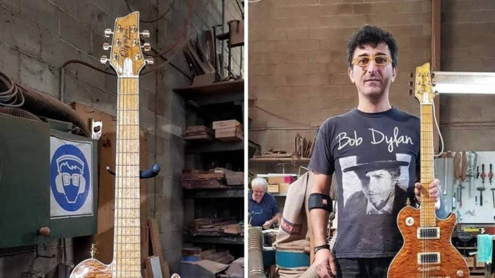 Ο Έλληνας που φτιάχνει ηλεκτρικές κιθάρες για τους σταρ… με ξύλα από τον Όλυμπο!
