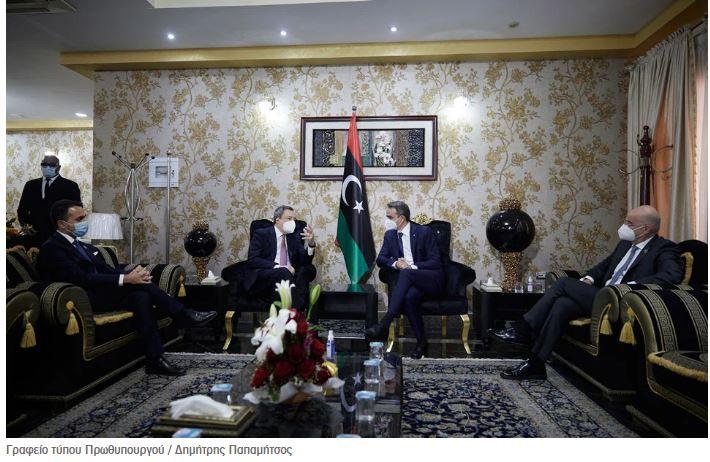 Λιβύη και διμερείς σχέσεις στη συνάντηση Μητσοτάκη – Ντράγκι
