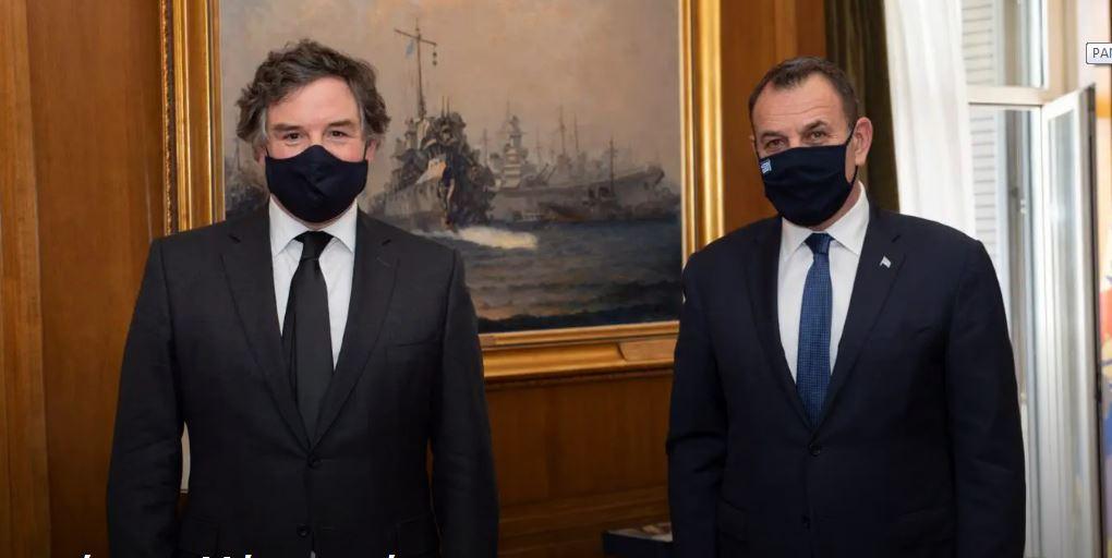 Ο ΥΕΘΑ Ν. Παναγιωτόπουλος συναντήθηκε με τον Βρετανό υπουργό Αμυντικών Εξοπλισμών