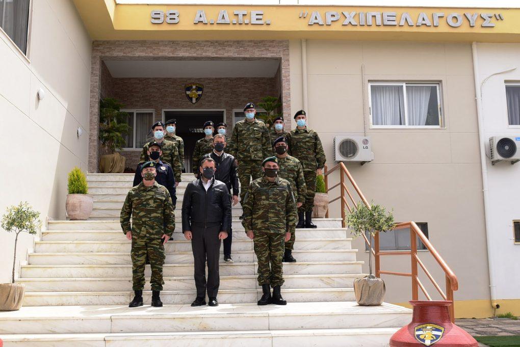 Ολοκλήρωση επισκέψεως ΥΕΘΑ Νικόλαου Παναγιωτόπουλου στην περιοχή Ευθύνης της 98 ΑΔΤΕ